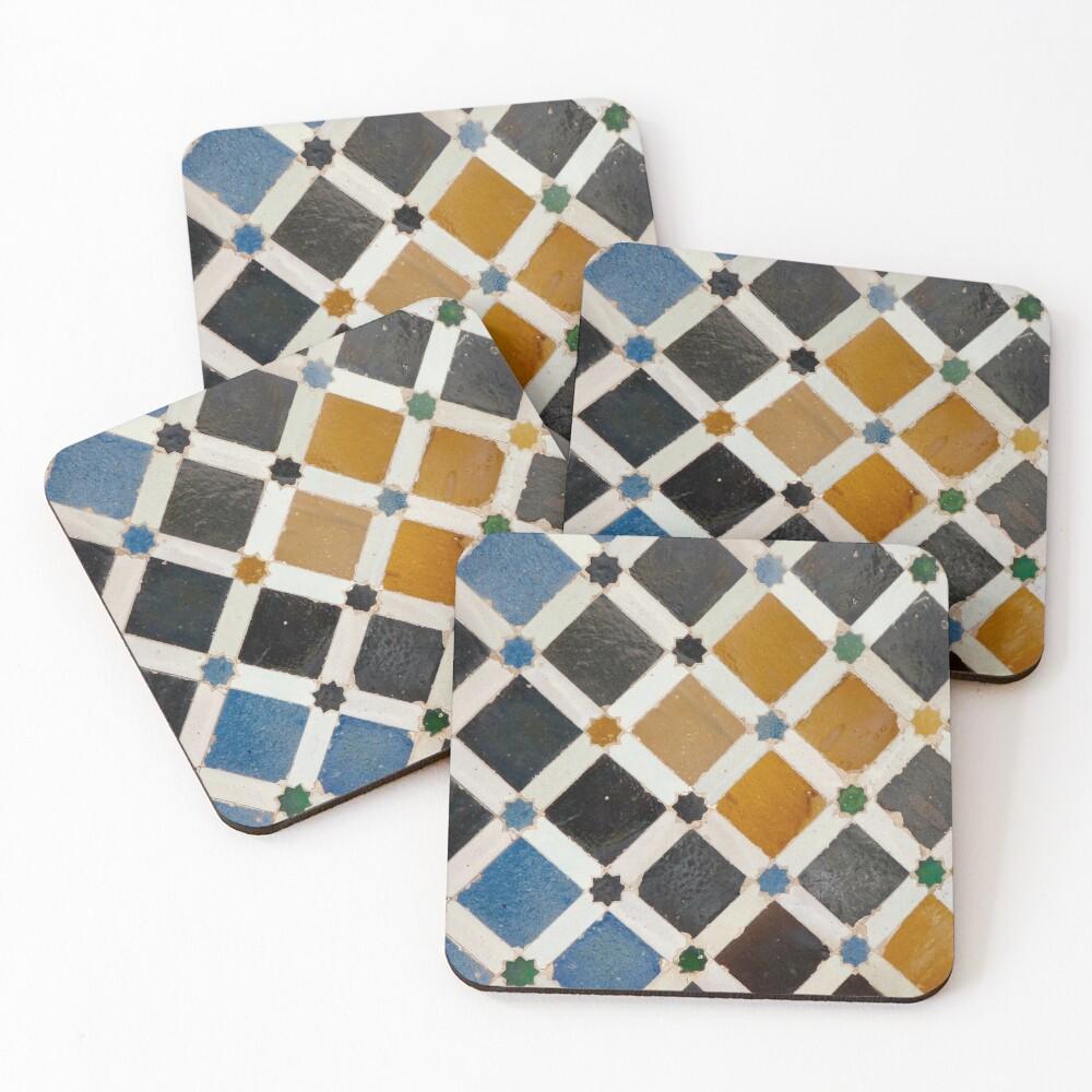 Moorish tile  Coasters (Set of 4)