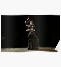 Toca Flamenco Black Poster