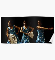 Toca Flamenco Blue Triple Poster