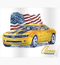 Camaro - transformers Poster