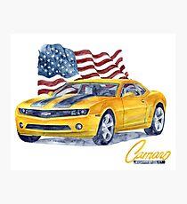 Camaro - transformers Photographic Print