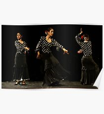 Toca Flamenco Black Triple Poster