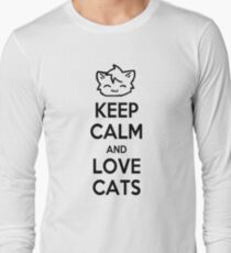 Keep Calm and Love Cats Long Sleeve T-Shirt