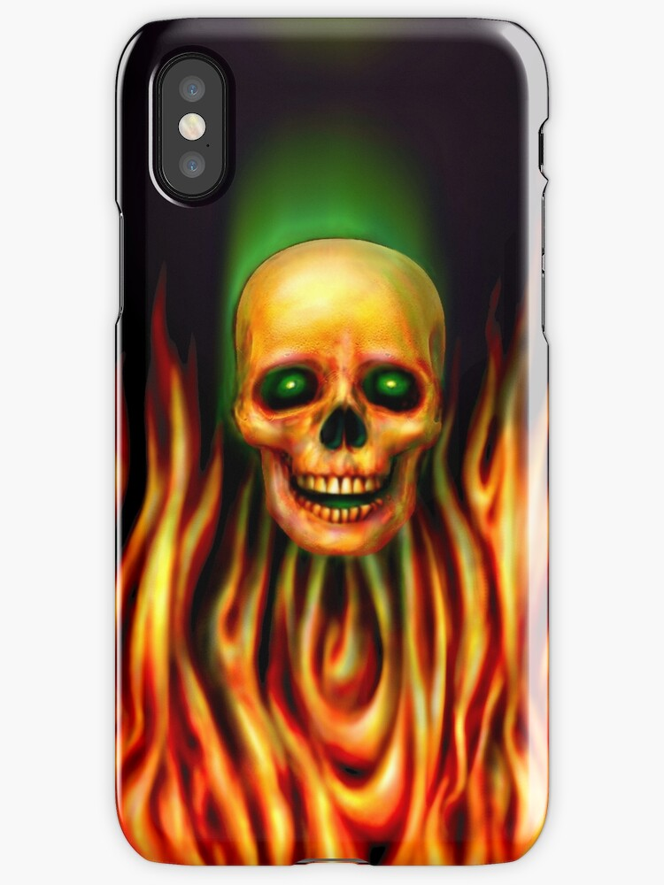 Flame Skull 3 by Marvin Hayes