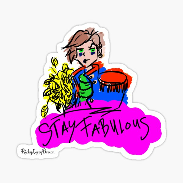 STAY FABULOUS Edgy Parrot Sticker