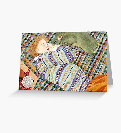 Picnic With Bunny Greeting Card