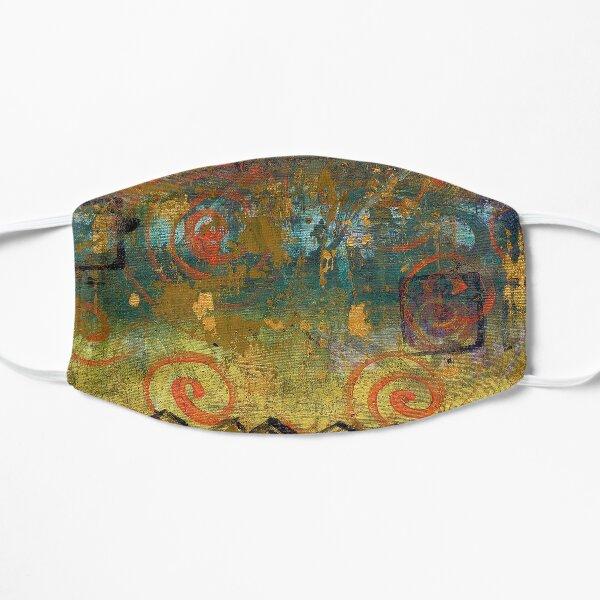 Irish Archaeological - Genetic Memory - Acrylic on Canvas by Kathrina Shine Flat Mask