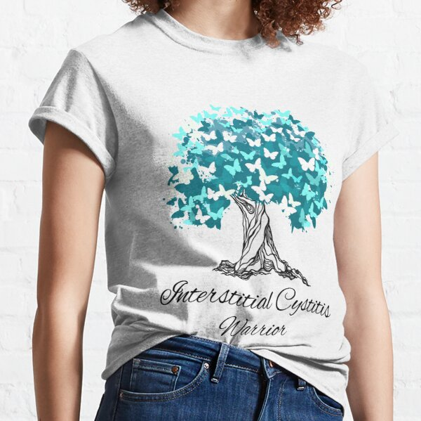 Interstitial Cystitis Warrior Butterfly Support Classic T-Shirt