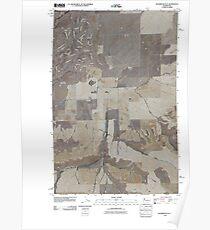 USGS Topo Map Washington State WA Sagebrush Flat 20110425 TM Poster