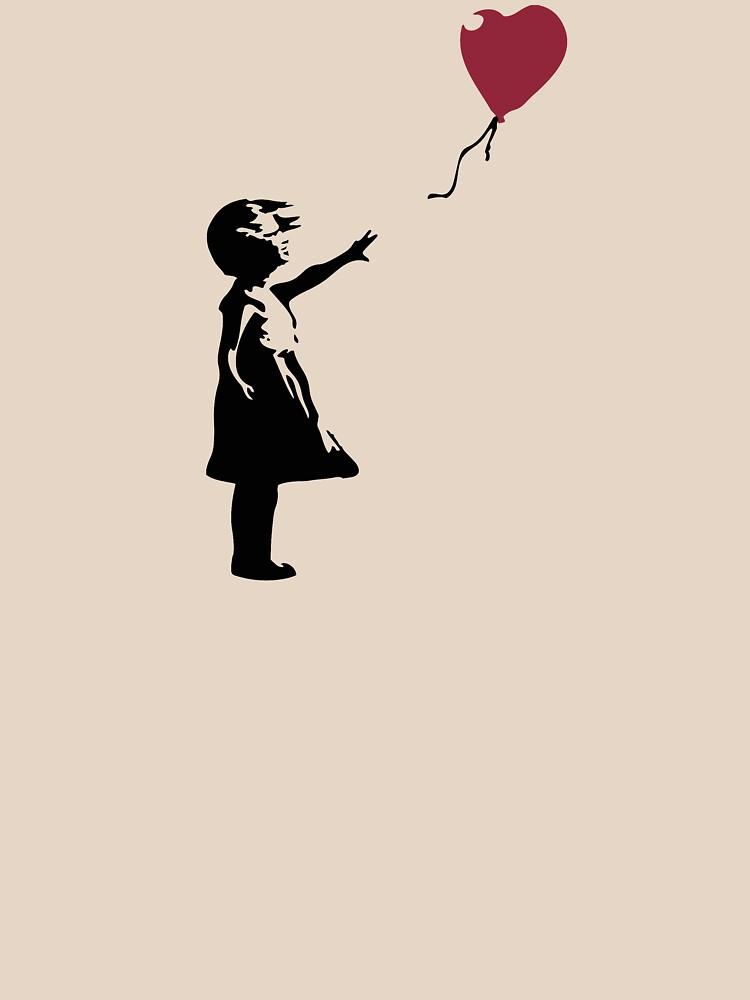 Girl With Red Balloon, Banksy, Streetart Street Art, Grafitti, Artwork, Design For Men, Women, Kids by clothorama