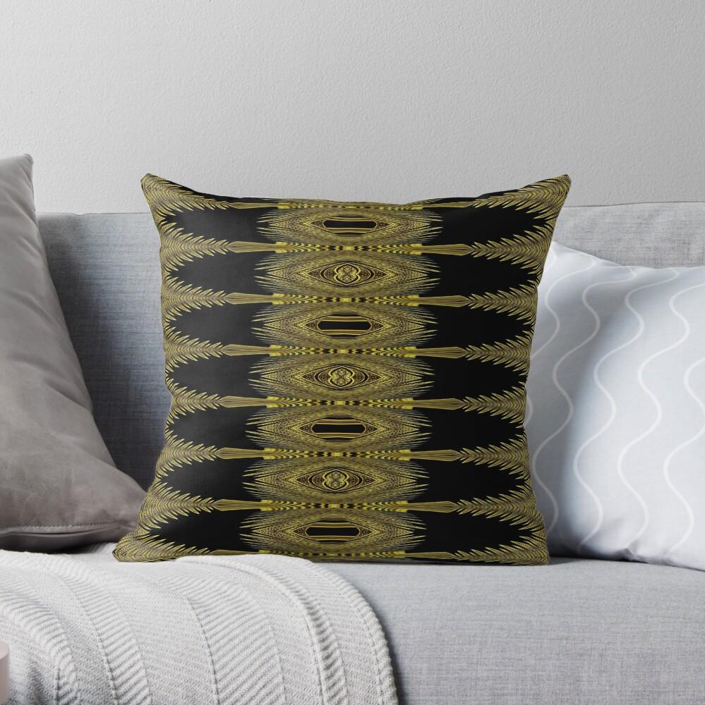 Golden Floral Creations (1) Throw Pillow