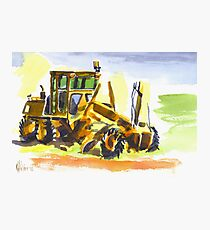Roadmaster in Watercolor Photographic Print