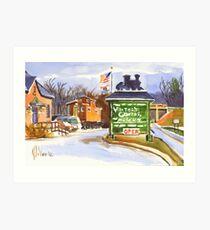Whistle Junction, Ironton, Missouri Art Print