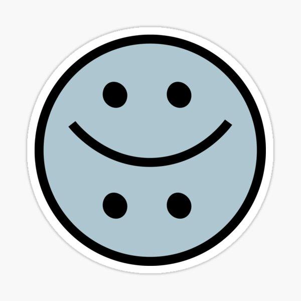 Feliz y triste Smiley Blue Pegatina