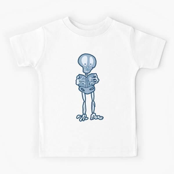 Enthralled Ethan Skeleton with Book Kids T-Shirt