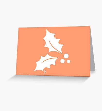 Holly Greeting Card