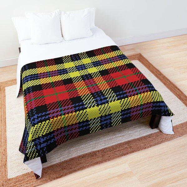 Scottish tartan Black Watch, black, yellow, red Comforter