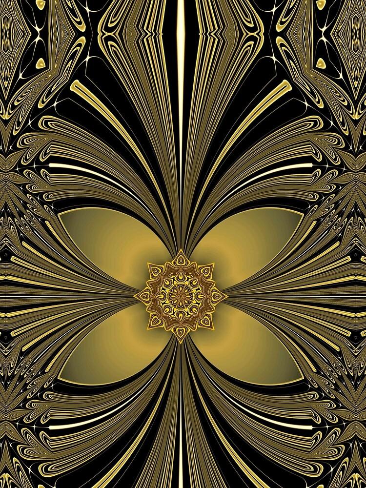 Decorative Golden Floral (1) by vkdezine