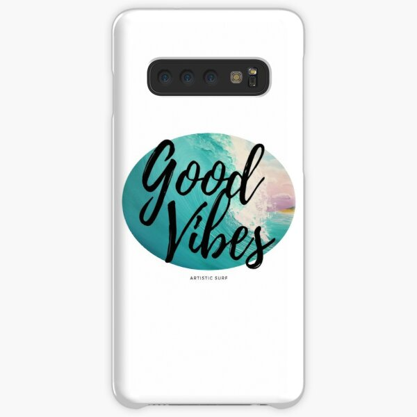 Good Vibes Surf Breaking Wave Samsung Galaxy Snap Case