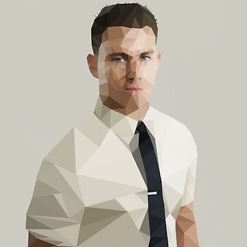 Channing Tatum - low poly by theZdesign