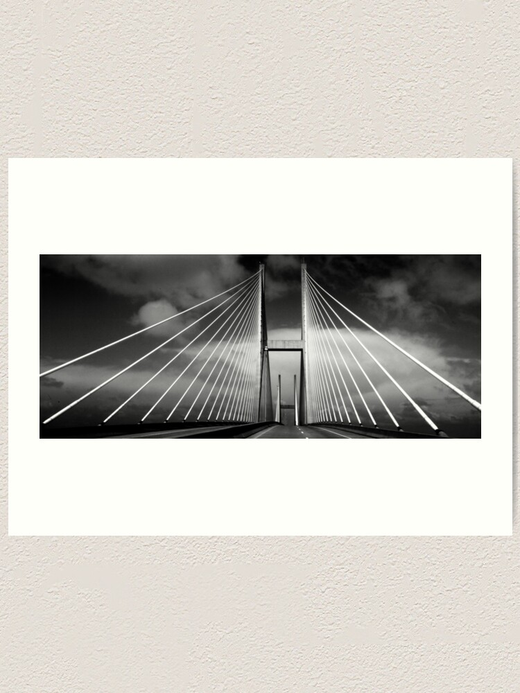 Alternate view of M. E. Thompson Memorial Bridge Art Print