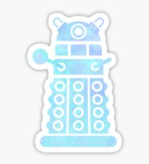 dalek blue pastel version Sticker