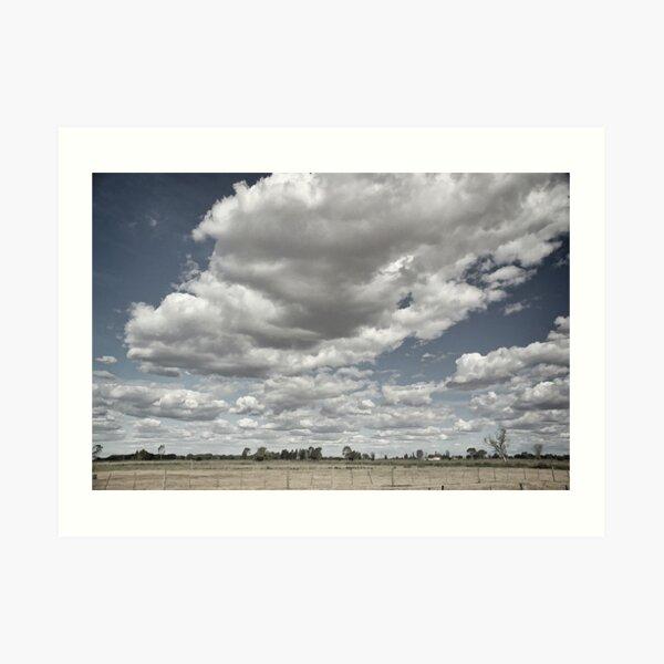 Long white cloud - Tongala Art Print