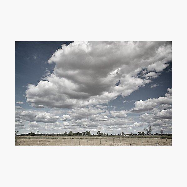 Long white cloud - Tongala Photographic Print