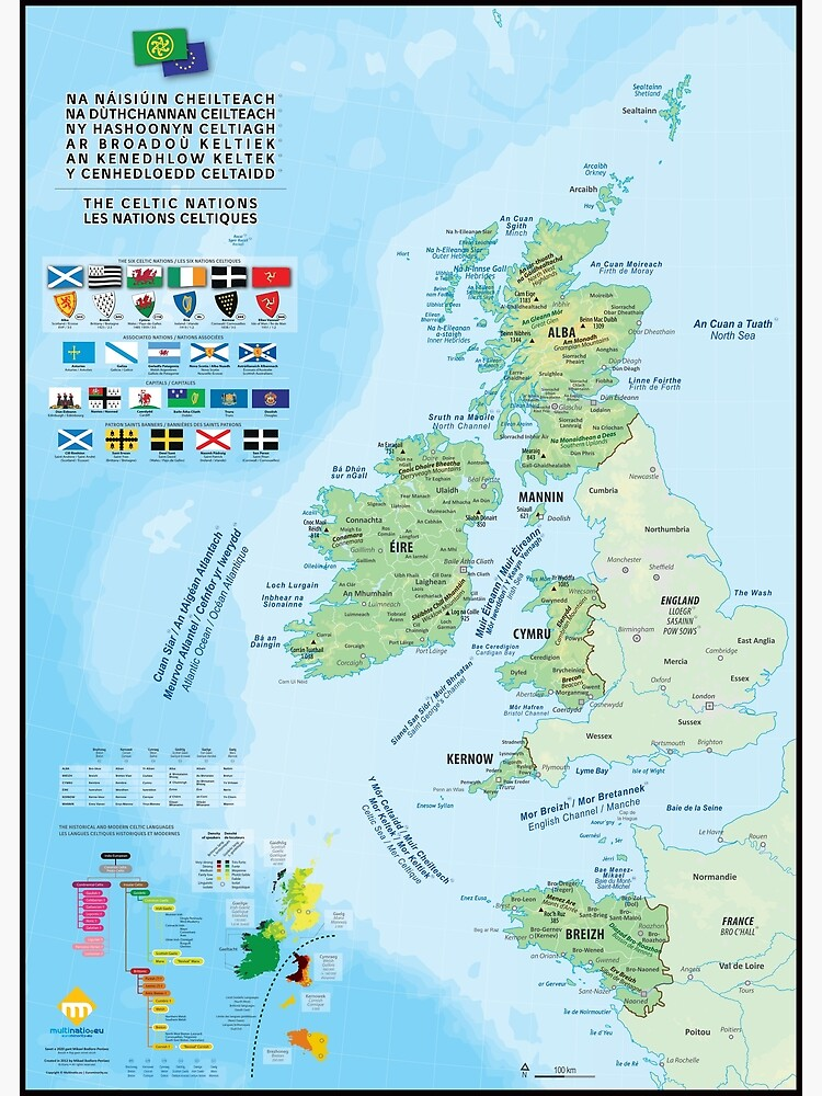 «Les six nations celtiques : cartes, drapeaux et langues» par Multinatio