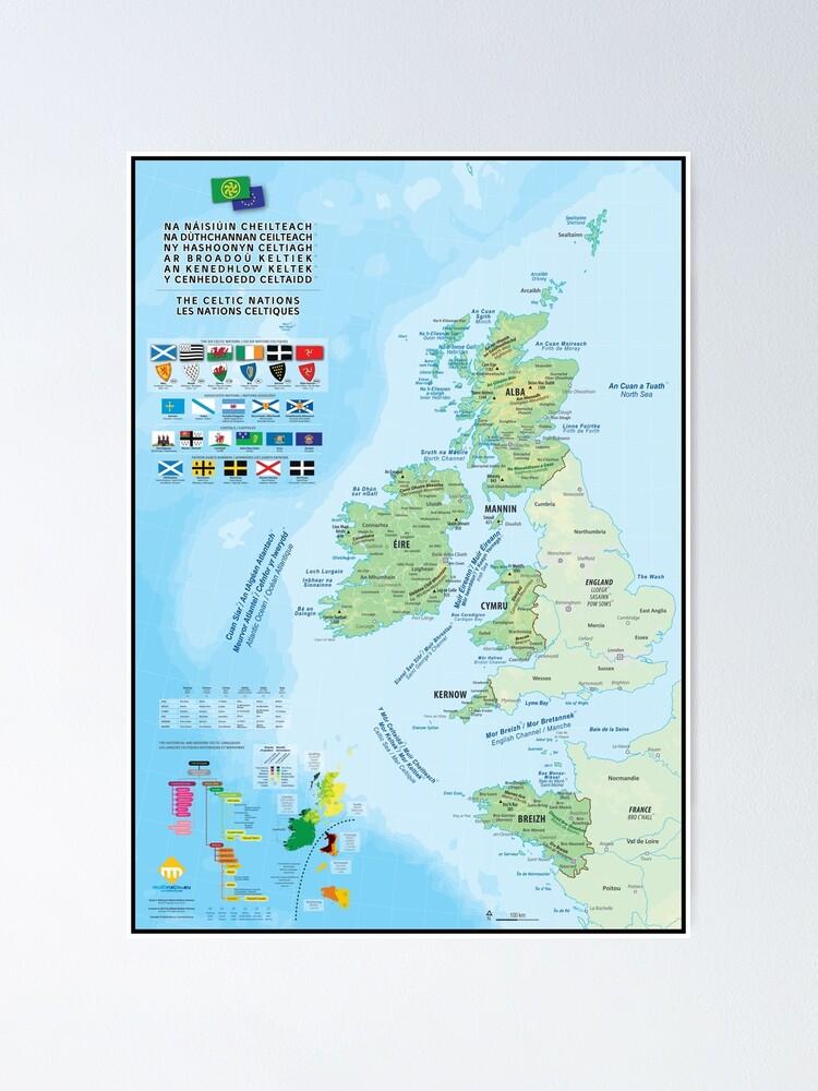 Poster ''Les six nations celtiques : cartes, drapeaux et langues': autre vue