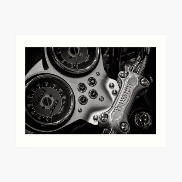 Triumph handlebar clamp Art Print