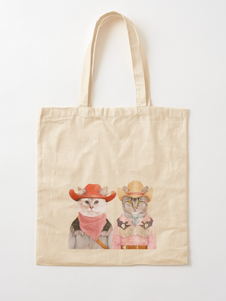 Alternate view of Cowboy Cats Tote Bag