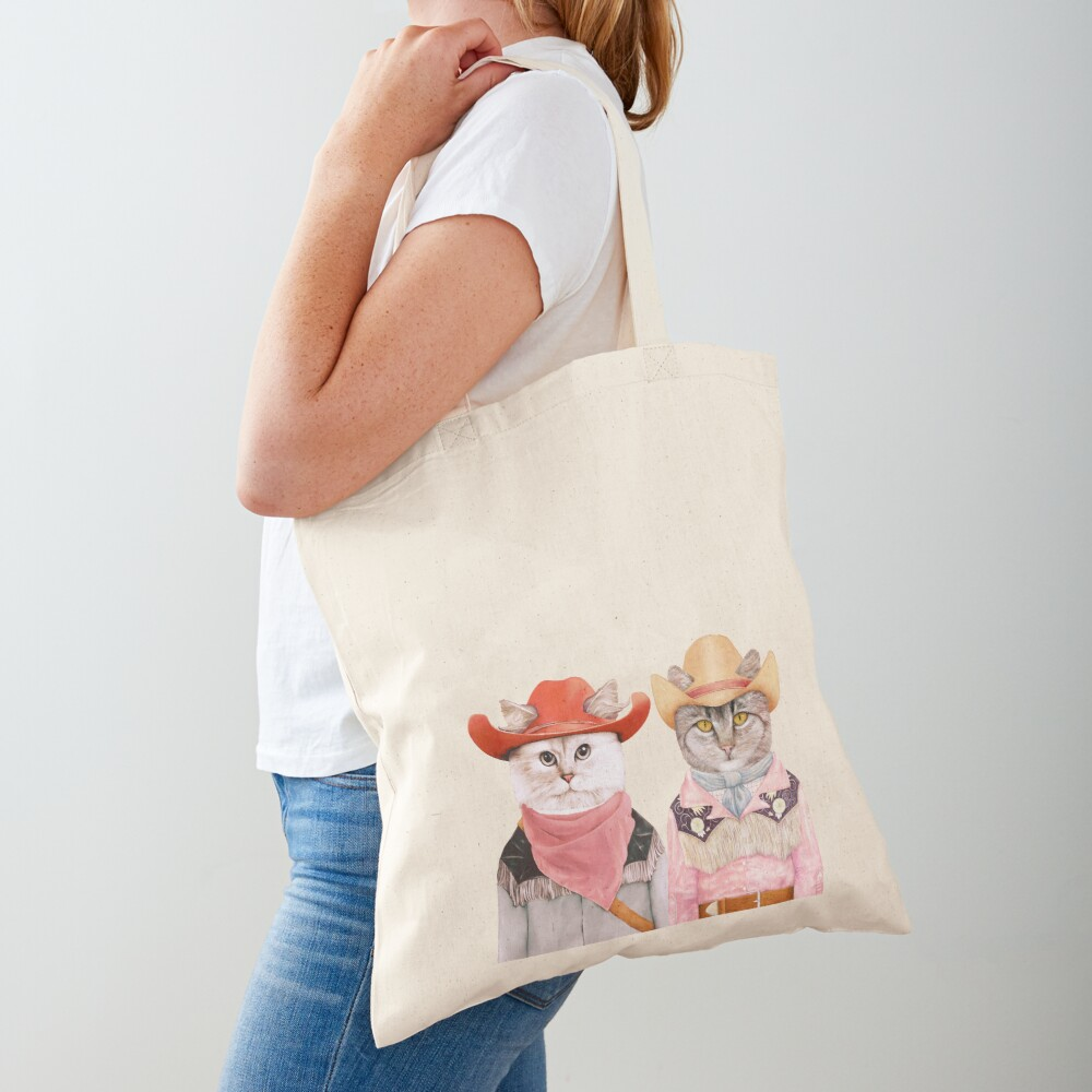 Cowboy Cats Tote Bag