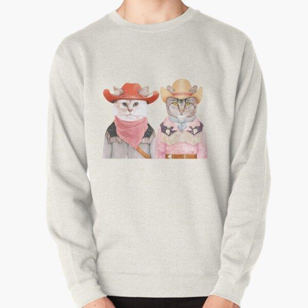 Cowboy Cats Pullover Sweatshirt
