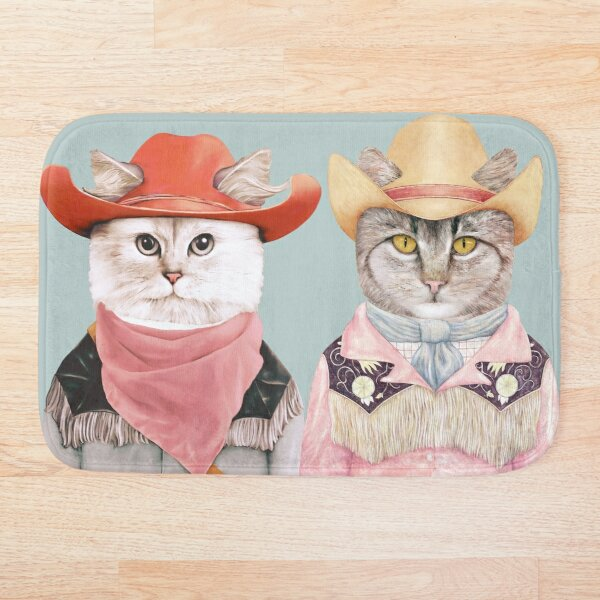 Cowboy Cats Bath Mat