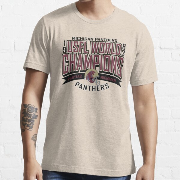 Michigan Panthers 1983 USFL Football Tee Shirt