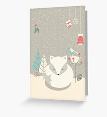 Christmas baby fox 05 Greeting Card
