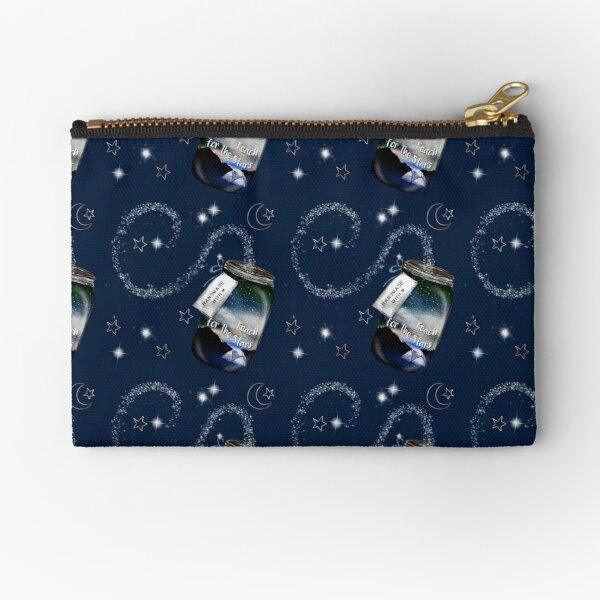 Reach for the Stars Mason jar Navy Tatra Cottage Zipper Pouch