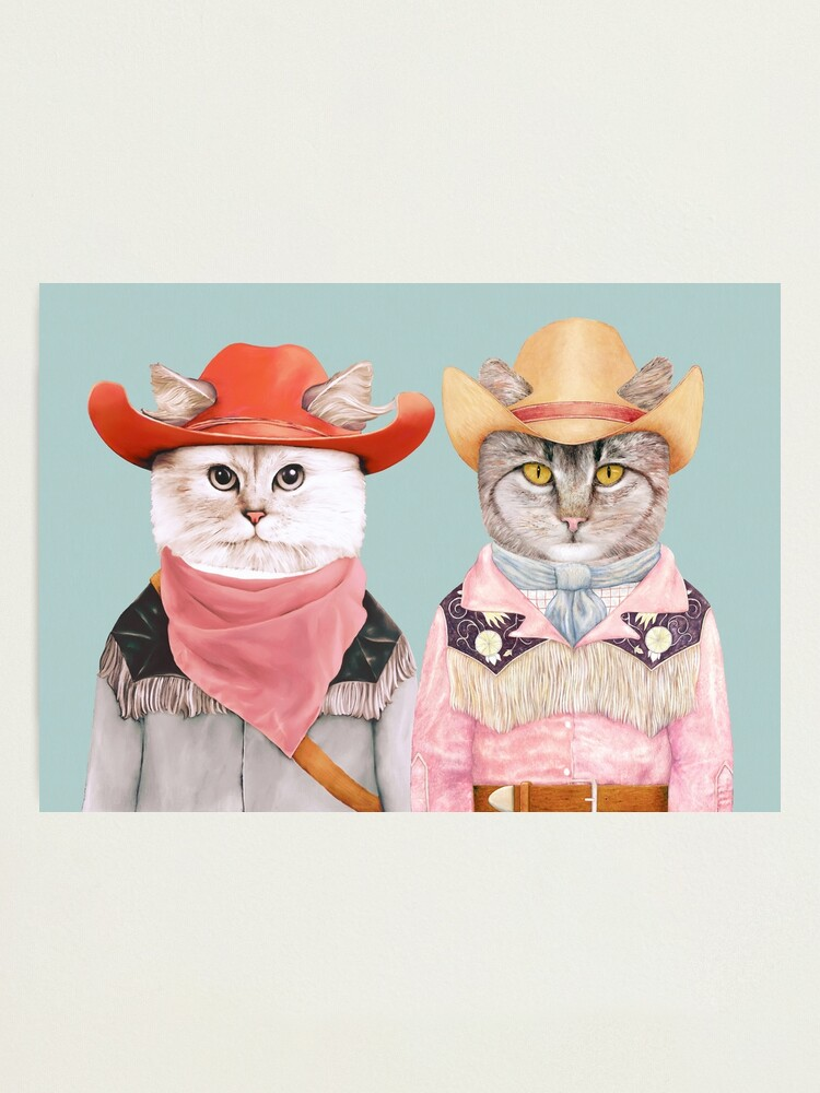 Alternate view of Cowboy Cats Photographic Print
