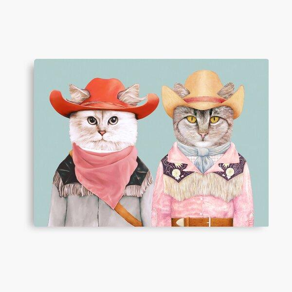 Cowboy Cats Canvas Print