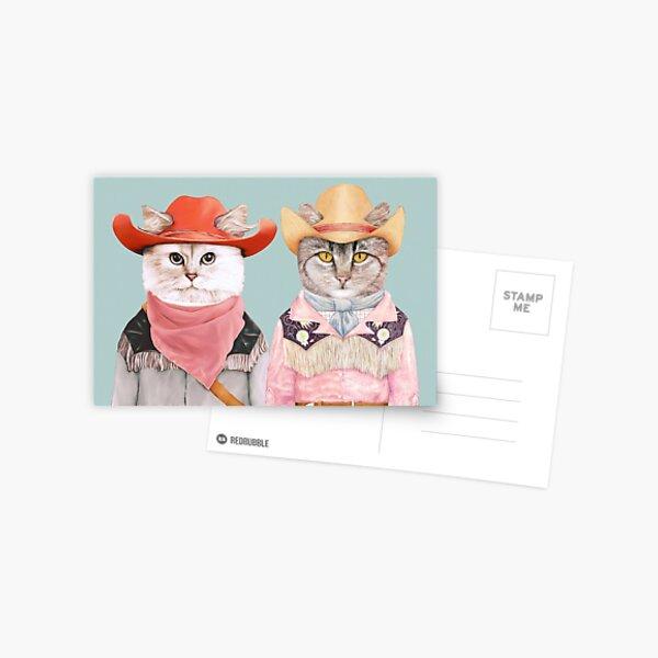Cowboy Cats Postcard