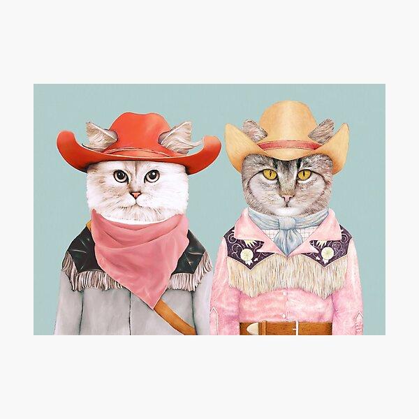 Cowboy Cats Photographic Print