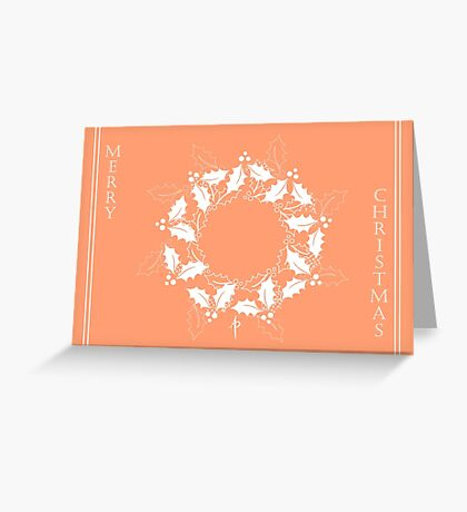 Christmas Holly Wreath Greeting Card
