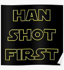 Han Shot First Poster