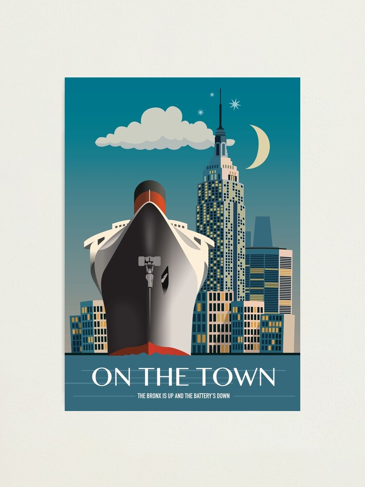 Alternate view of On The Town - Alternative Movie Poster Photographic Print