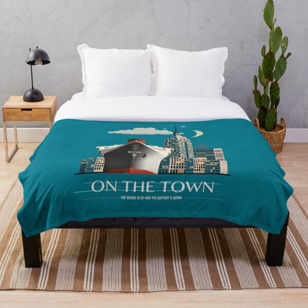 On The Town - Alternative Movie Poster Throw Blanket