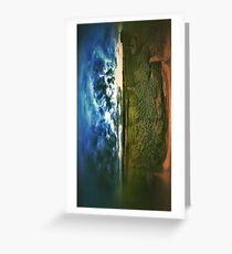 Side by side earth and sky Greeting Card