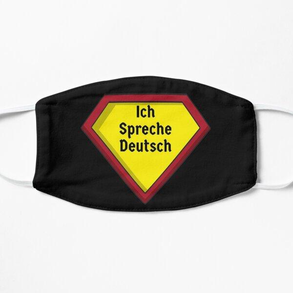 Ich Spreche Deutsch I speak German Superhero Design (auf Deutsch) Mask