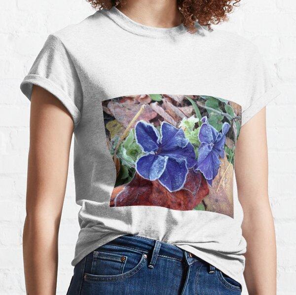 Petunie im Rauhreif Classic T-Shirt