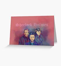 3 Sherlock Greeting Card